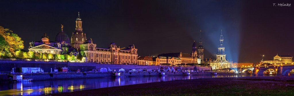 Lichtshow in Dresden