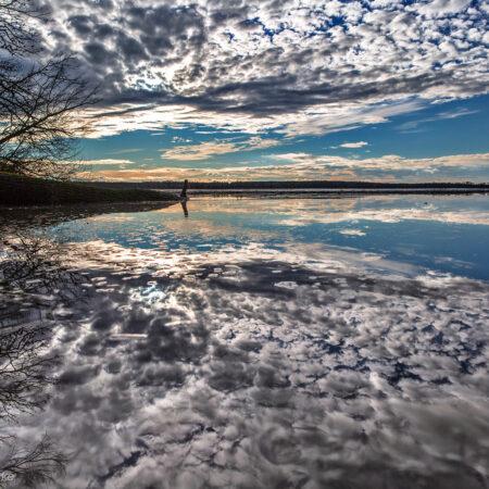 Wolkenspiegelung Zschornaer Teiche