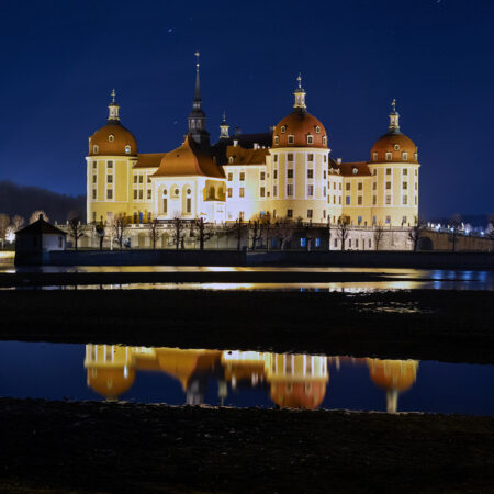 Schloss Moritzburg zu Weihnachten 2020